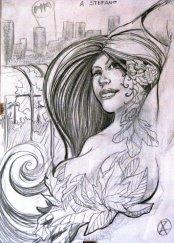 Sketch Poison Ivy di Vittorio Astone