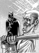 Batman e Joker Sketch di Fabio D'Auria