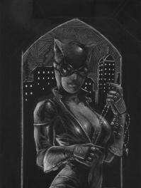 Catwoman (tavola originale) di Luca Strati