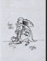 Pinguino di Cristian Di Clemente (tavola originale)