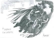 Sketch di Batman di Vittorio Astone