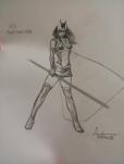 """Sketch de """"La Cacciatrice"""" di Vittorio Astone"""